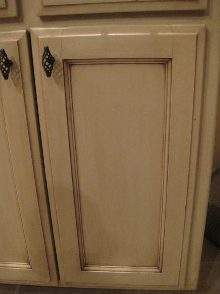 glazing kitchen cabinets gel stain photo - 1