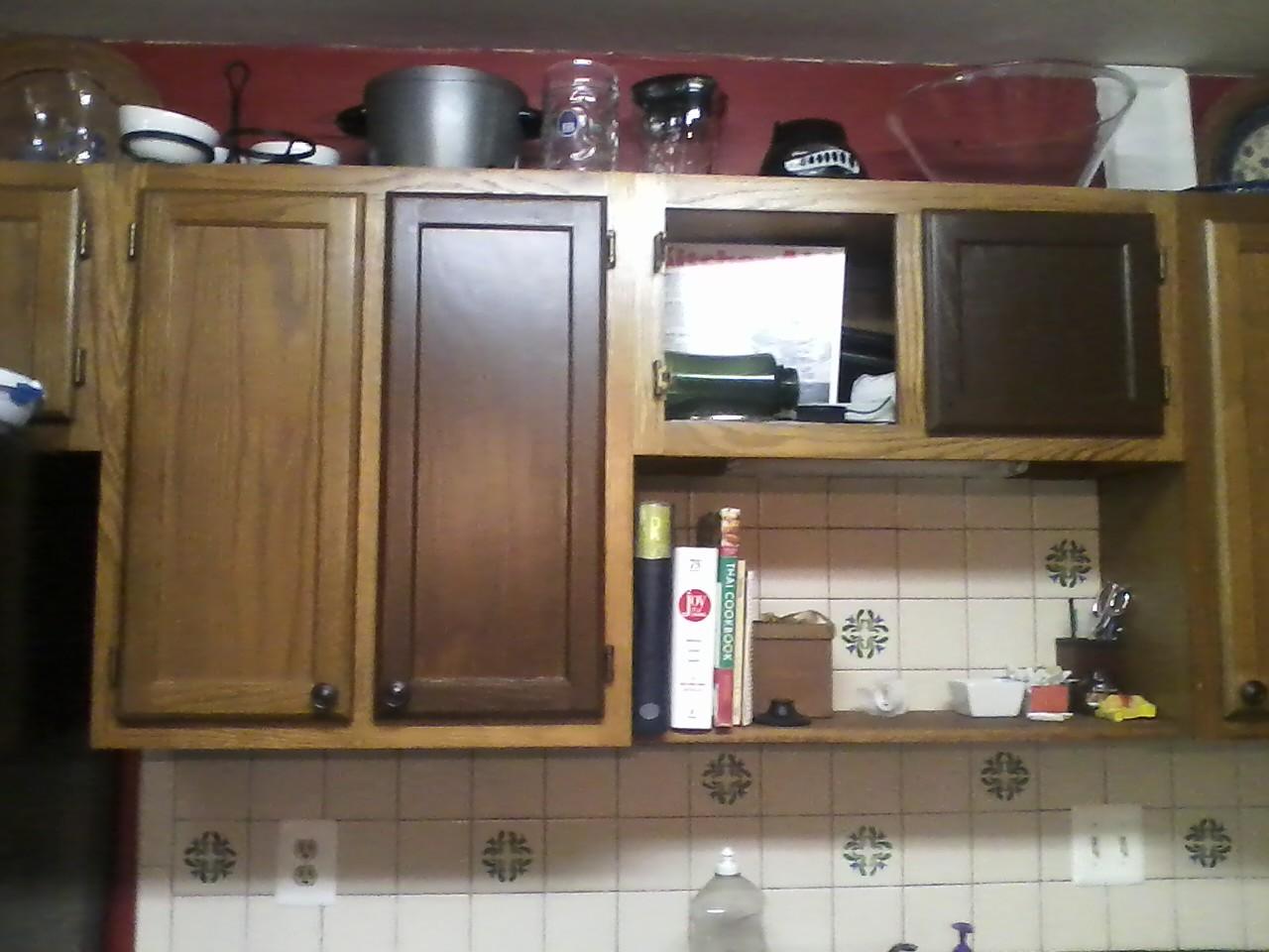 glazing kitchen cabinets gel stain photo - 10