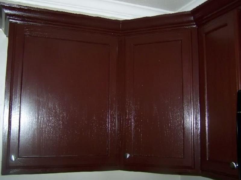 glazing kitchen cabinets gel stain photo - 5