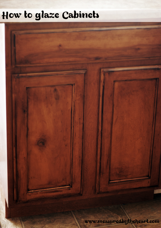 glazing kitchen cabinets gel stain photo - 6