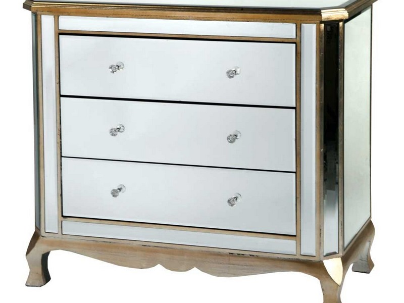 gold mirrored bedroom furniture photo - 9
