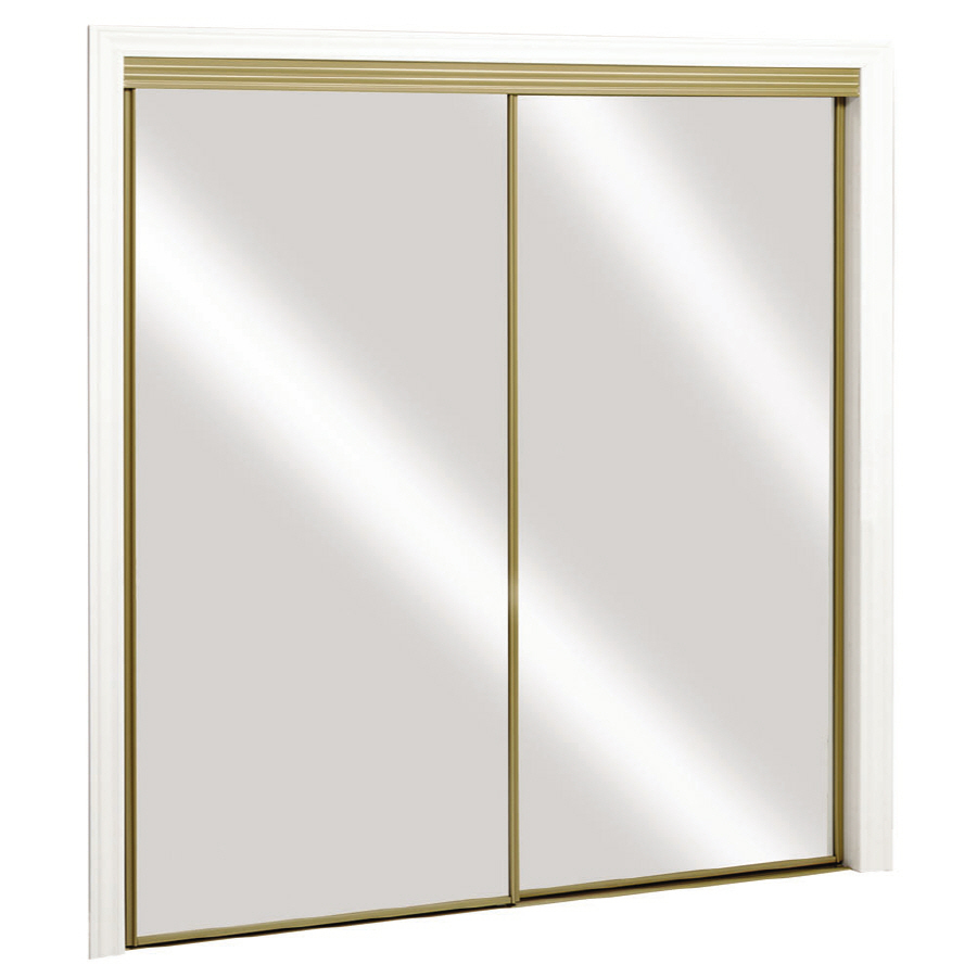 gold mirrored closet doors photo - 1
