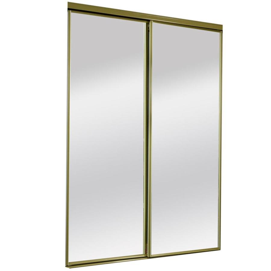 gold mirrored closet doors photo - 3