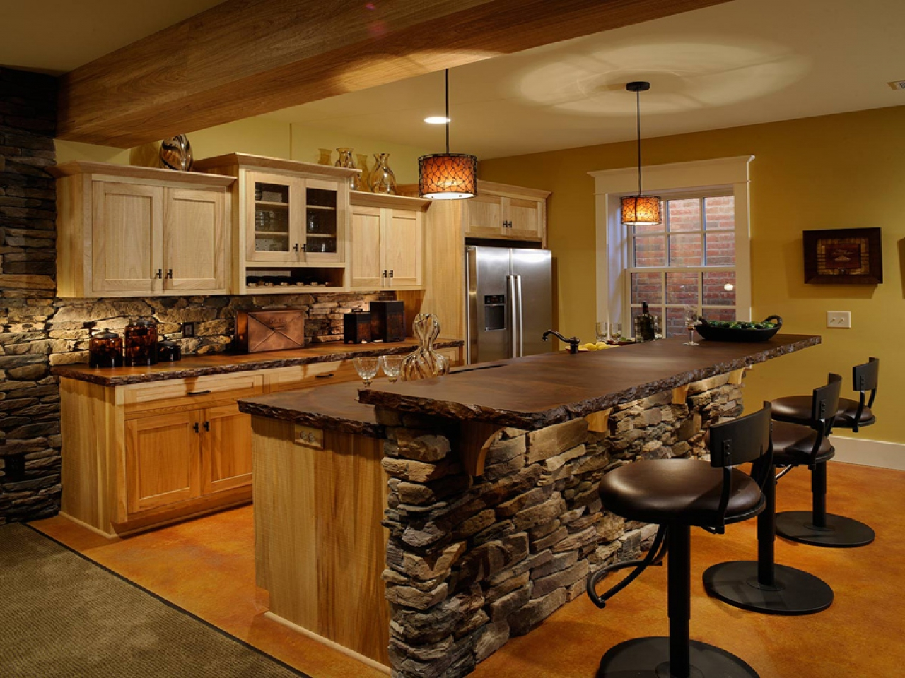 gourmet country kitchen designs photo - 1