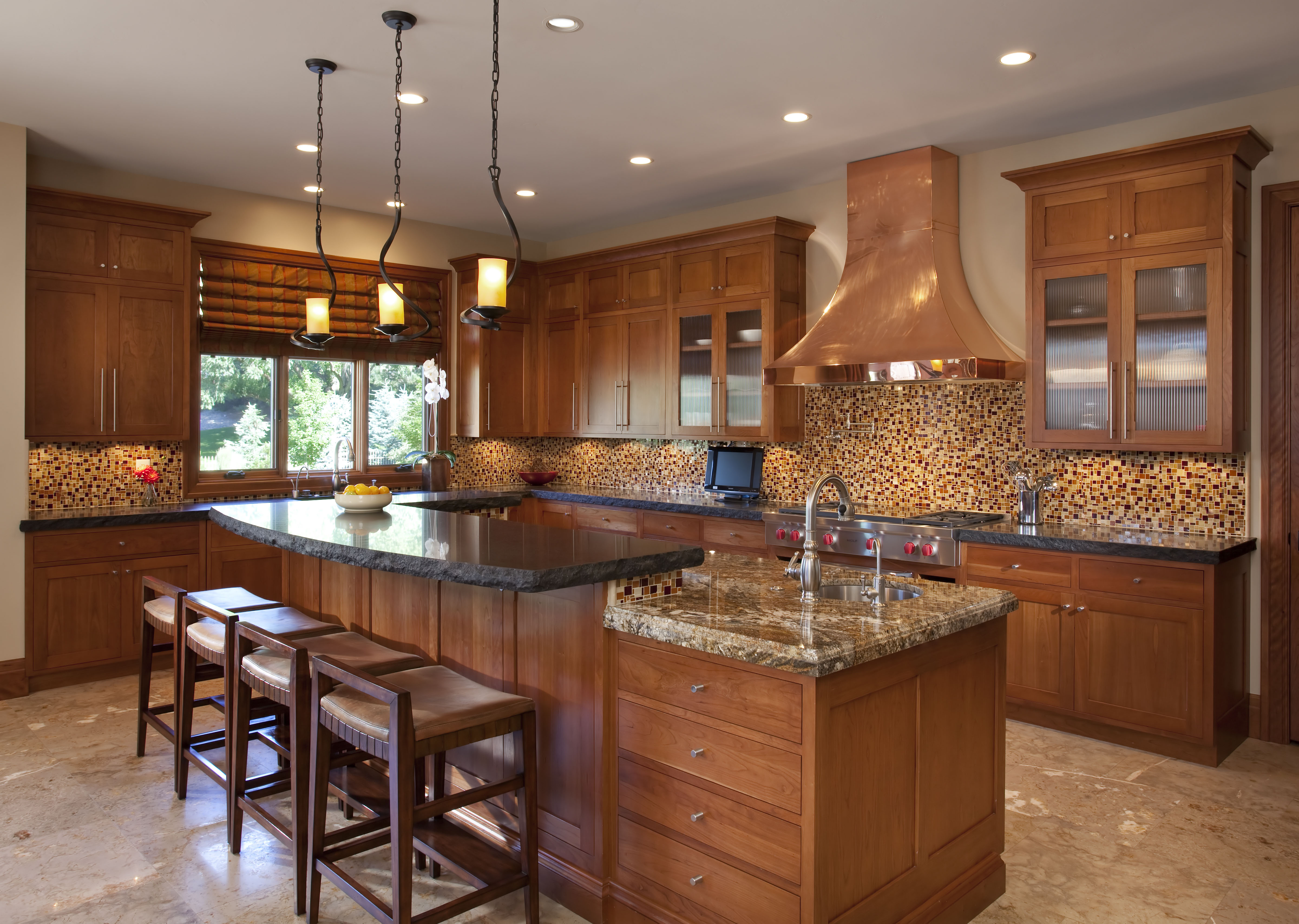 gourmet country kitchen designs photo - 5