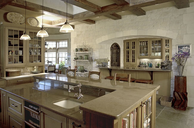 gourmet country kitchen designs photo - 7