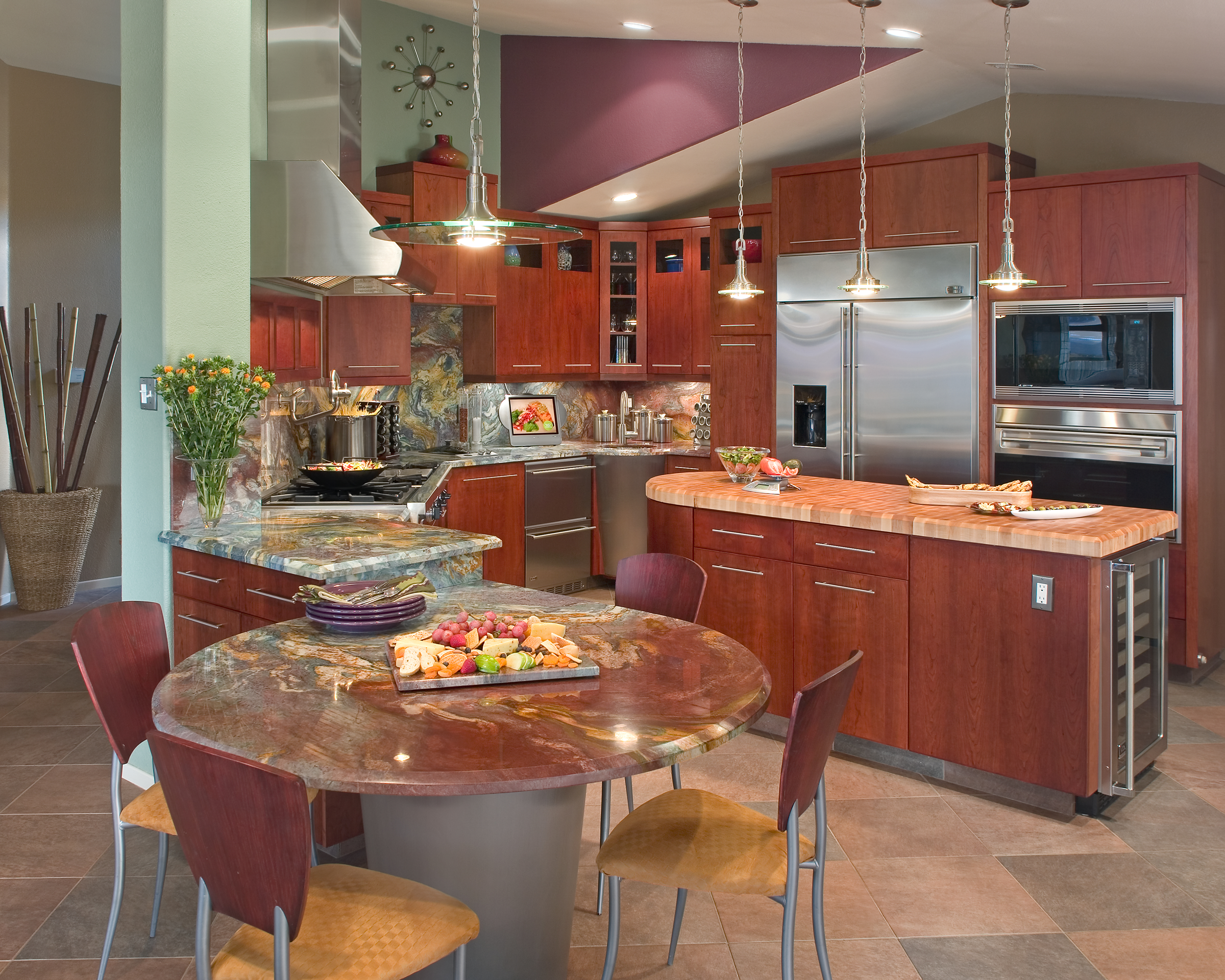 gourmet country kitchen designs photo - 8
