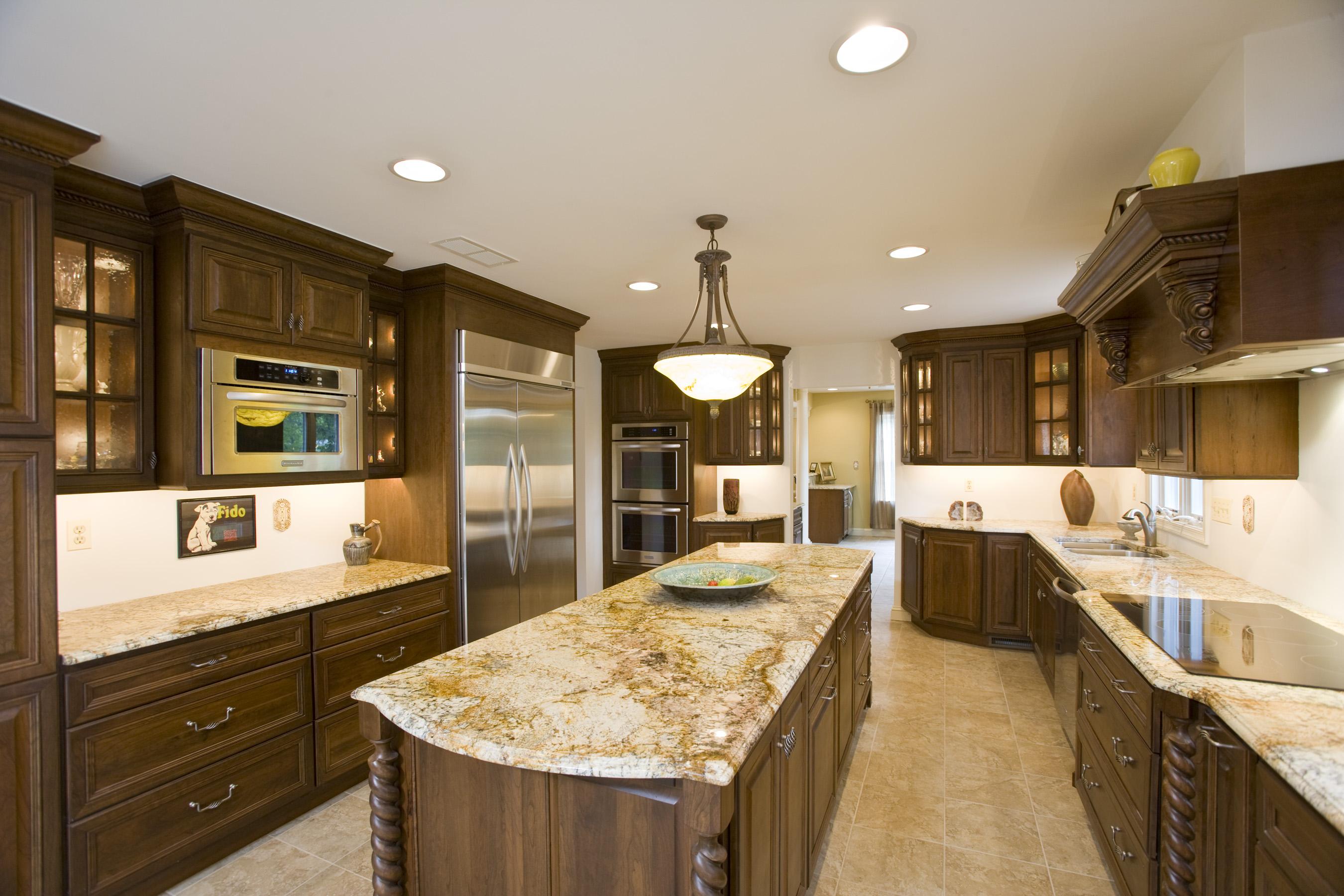 granite kitchen counter pictures photo - 3