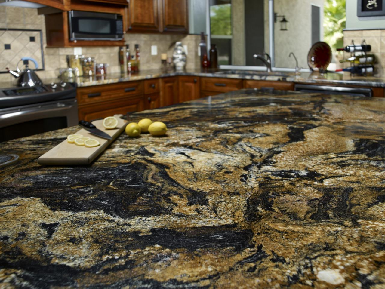 granite kitchen countertops pics photo - 1