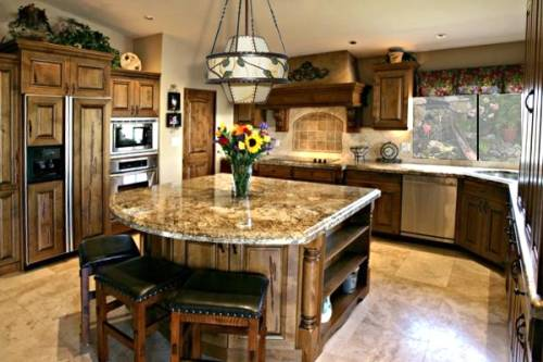 granite kitchen island designs photo - 1