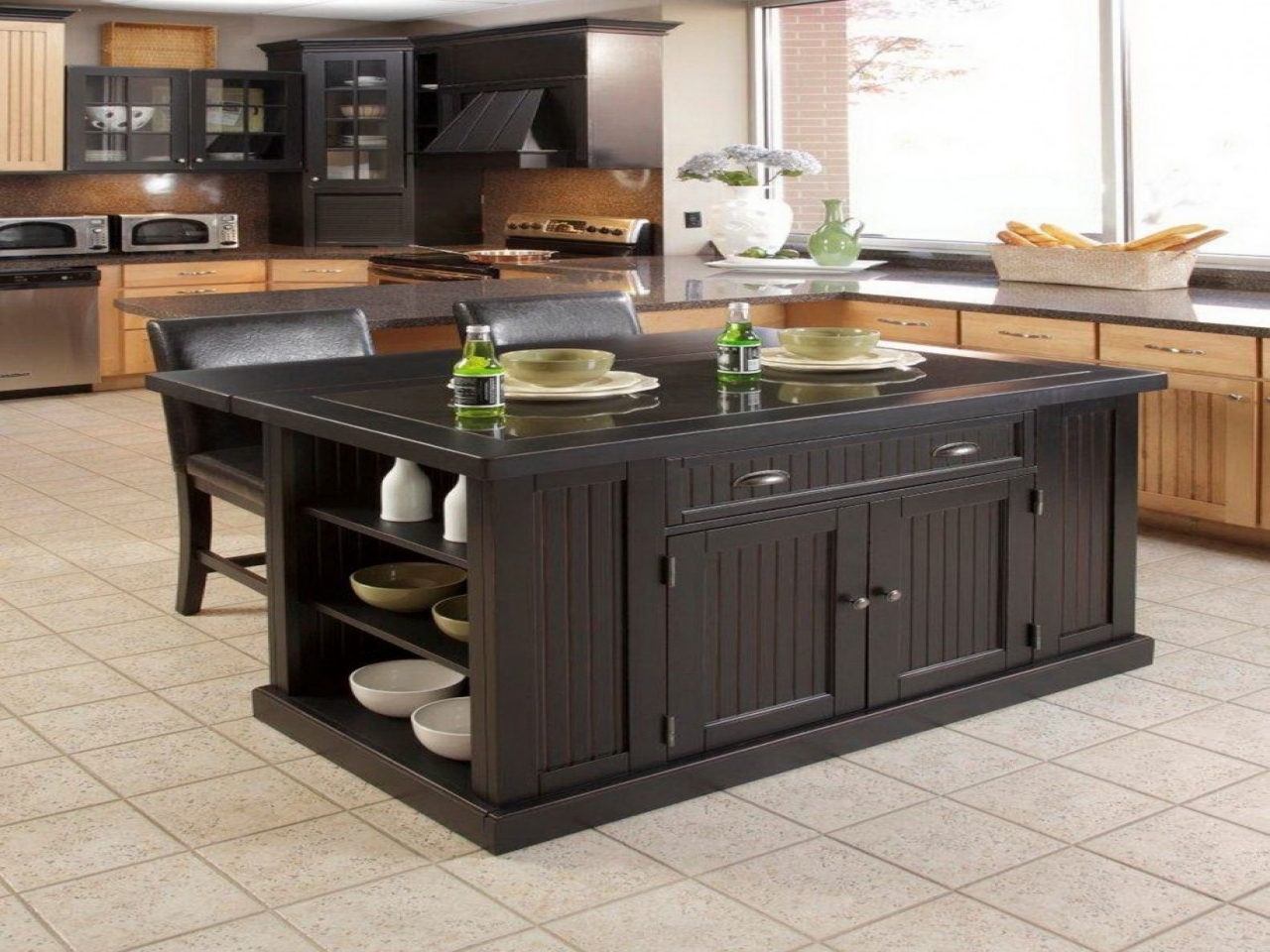 granite kitchen island designs photo - 8