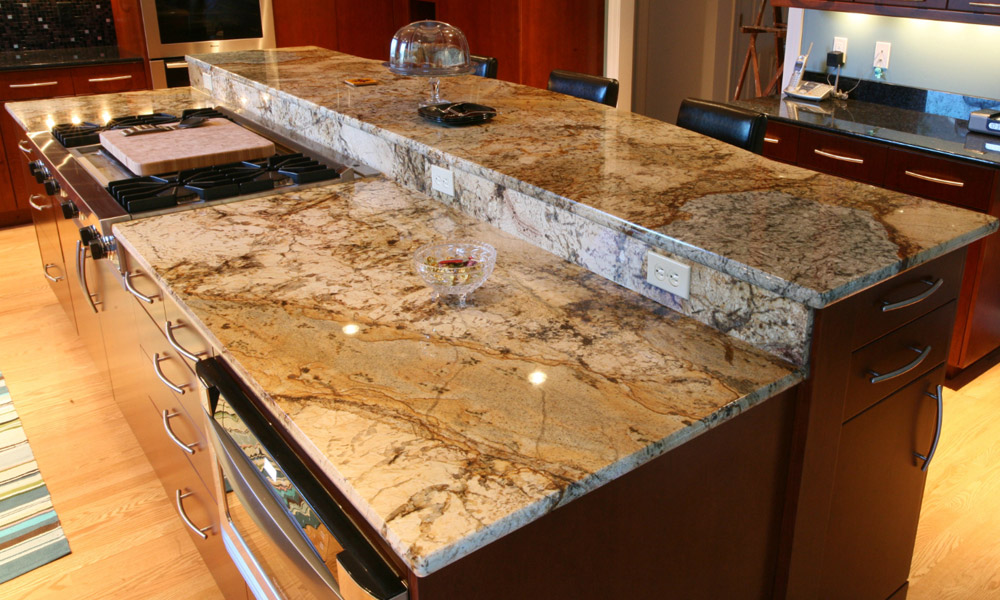 granite kitchen island designs photo - 9