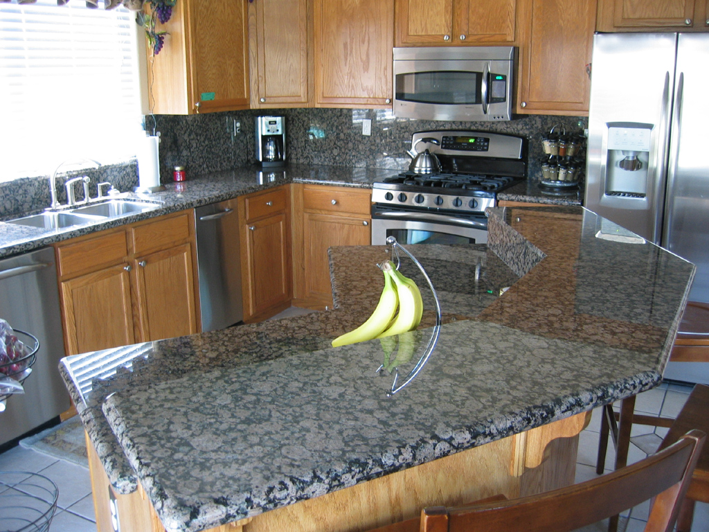 granite kitchen pics photo - 8