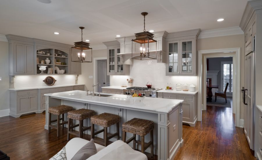 gray kitchen cabinets ideas photo - 2