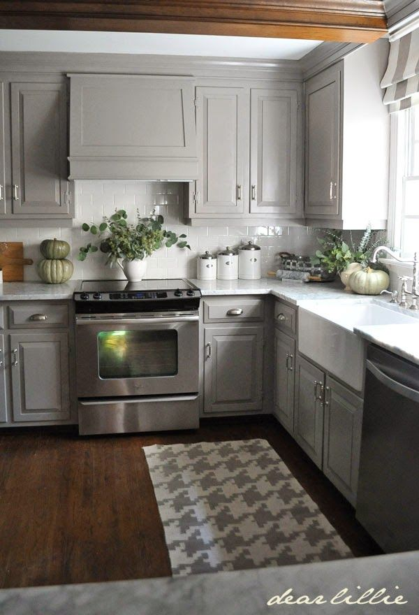 gray kitchen cabinets ideas photo - 3