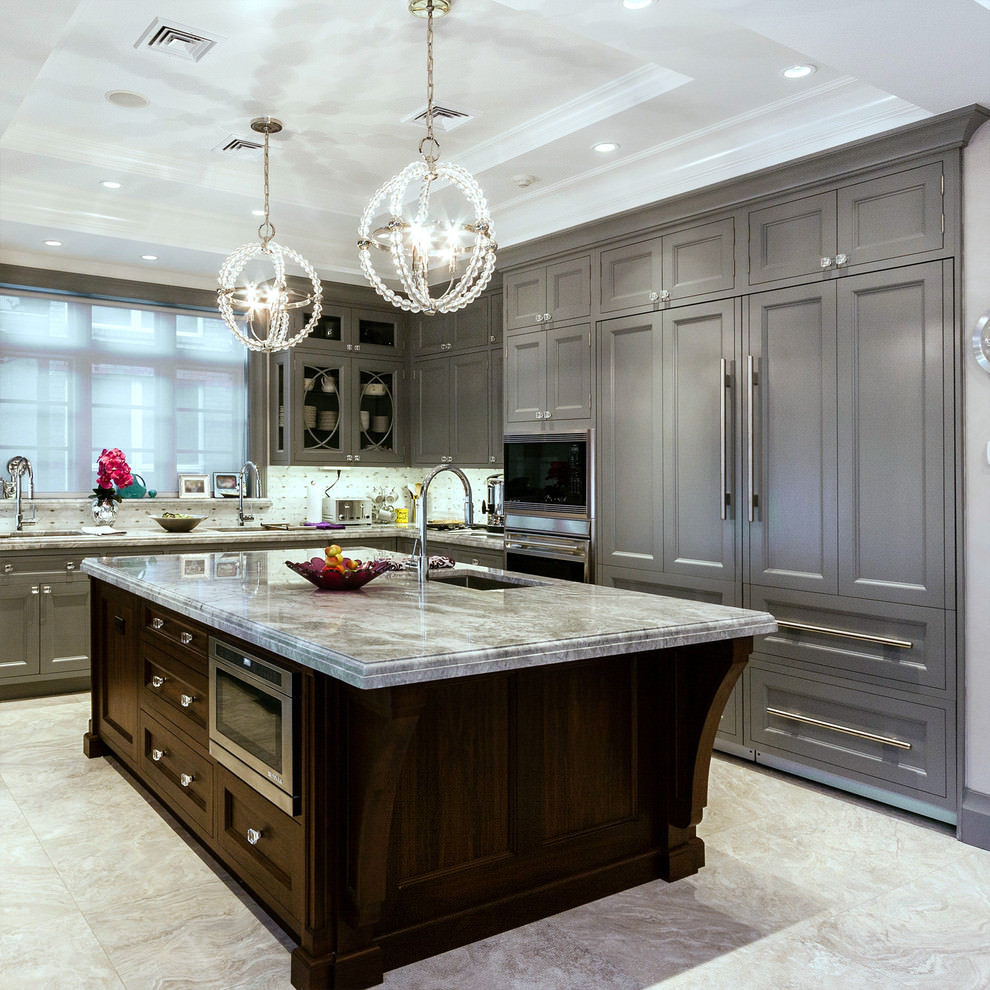 gray kitchen cabinets ideas photo - 6