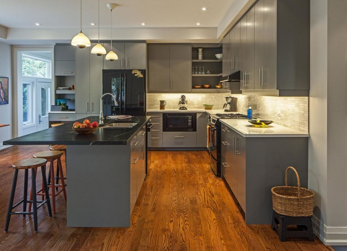 gray kitchen cabinets ideas photo - 8