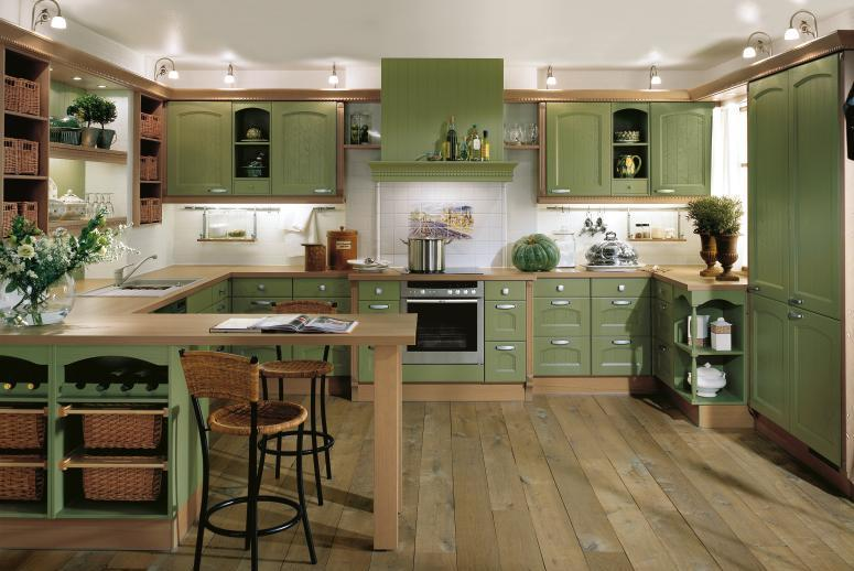 green country kitchen designs photo - 1