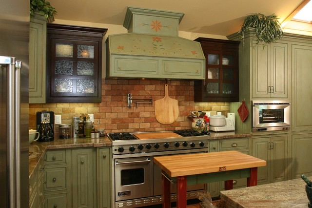 green country kitchen designs photo - 10