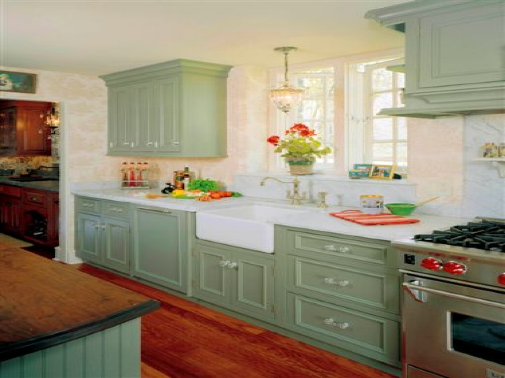 green country kitchen designs photo - 4