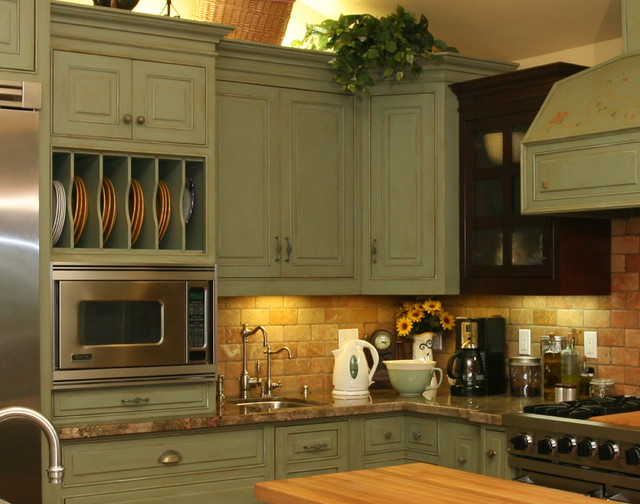 green country kitchen designs photo - 8