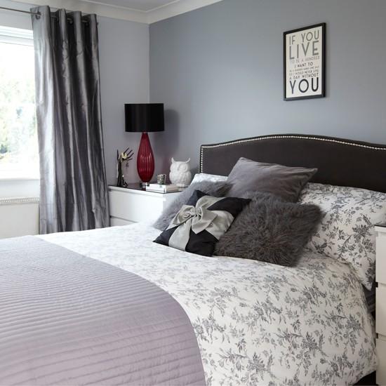 grey and black bedroom design photo - 3