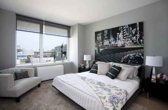 grey and black bedroom design photo - 6