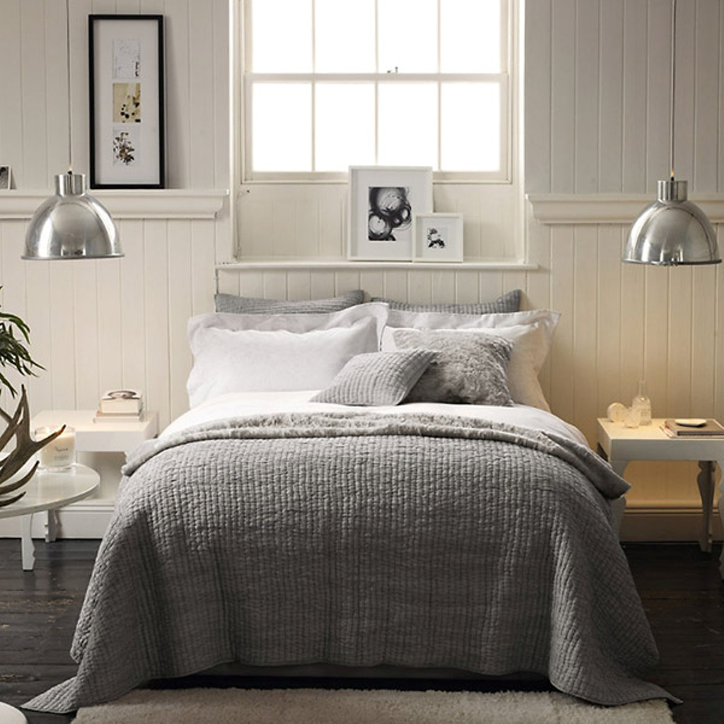 grey bedding ideas photo - 5