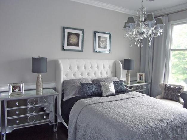 grey bedrooms images photo - 1