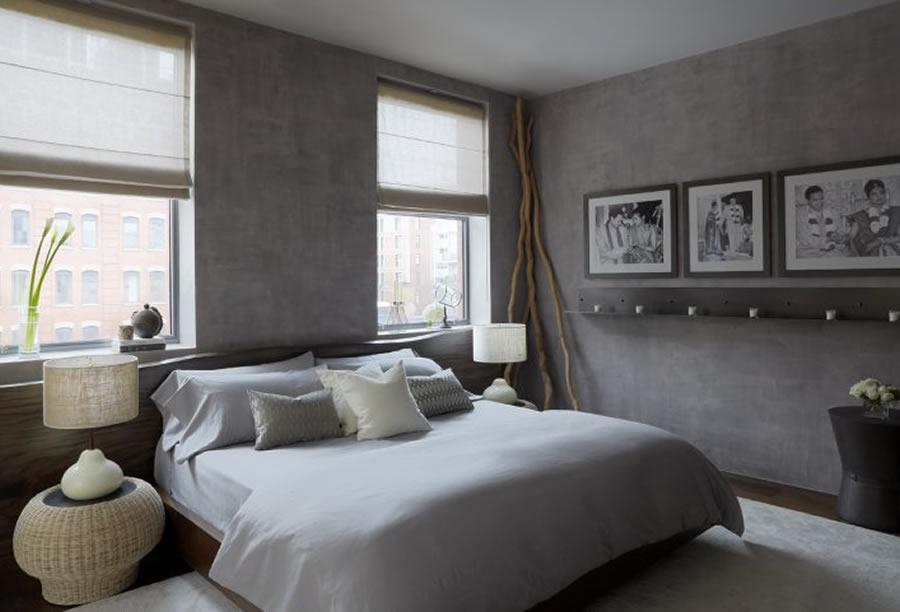 grey bedrooms images photo - 2