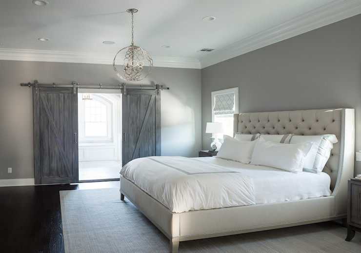 grey bedrooms images photo - 8