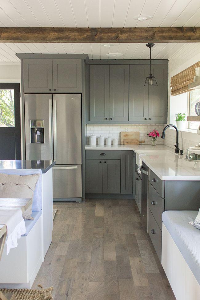 Grey kitchen cabinets ideas   Hawk Haven on