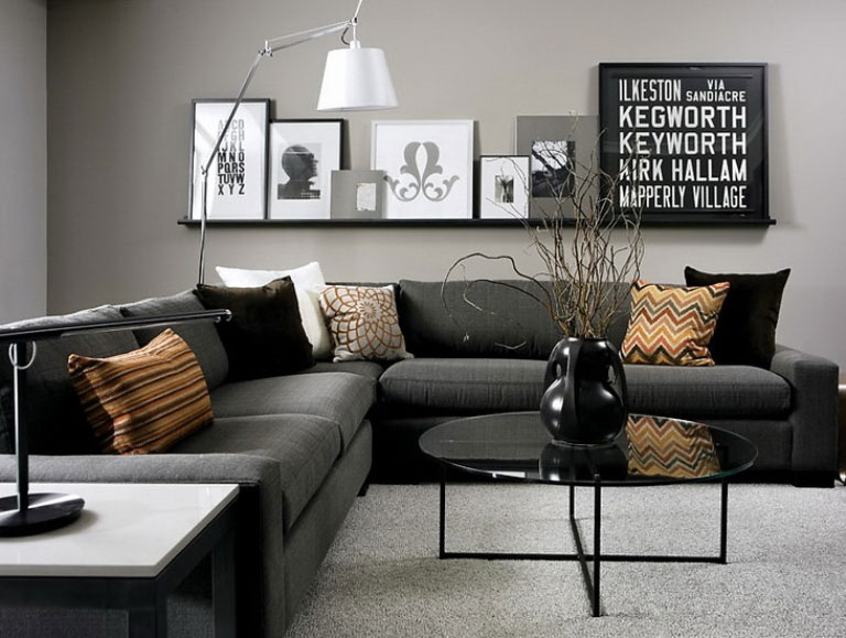 grey room design ideas photo - 3