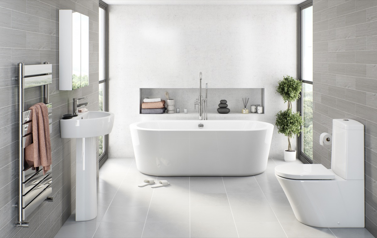 Grey spa bathroom ideas | Hawk Haven