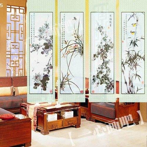 hanging canvas room divider photo - 1