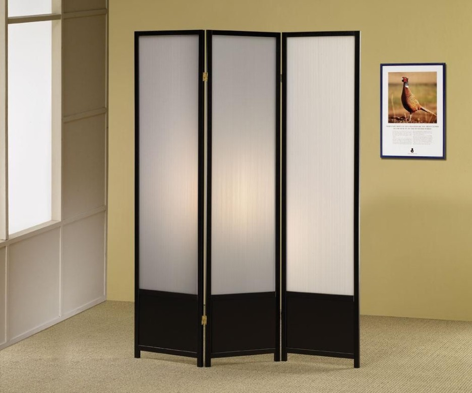 hanging canvas room divider photo - 10