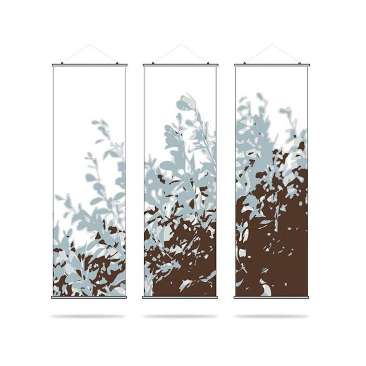 hanging canvas room divider photo - 4
