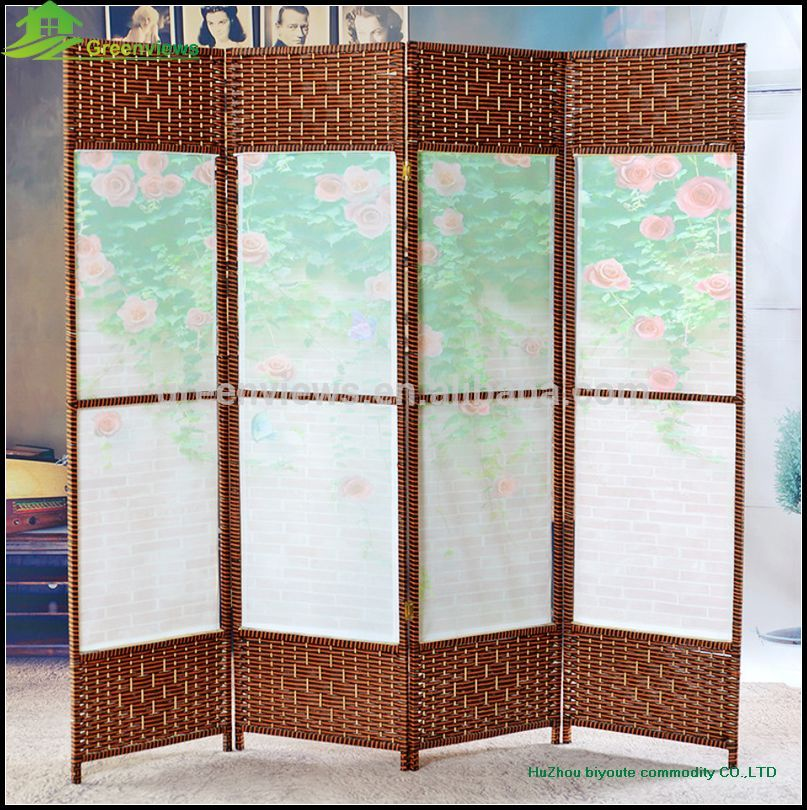 hanging canvas room divider photo - 5