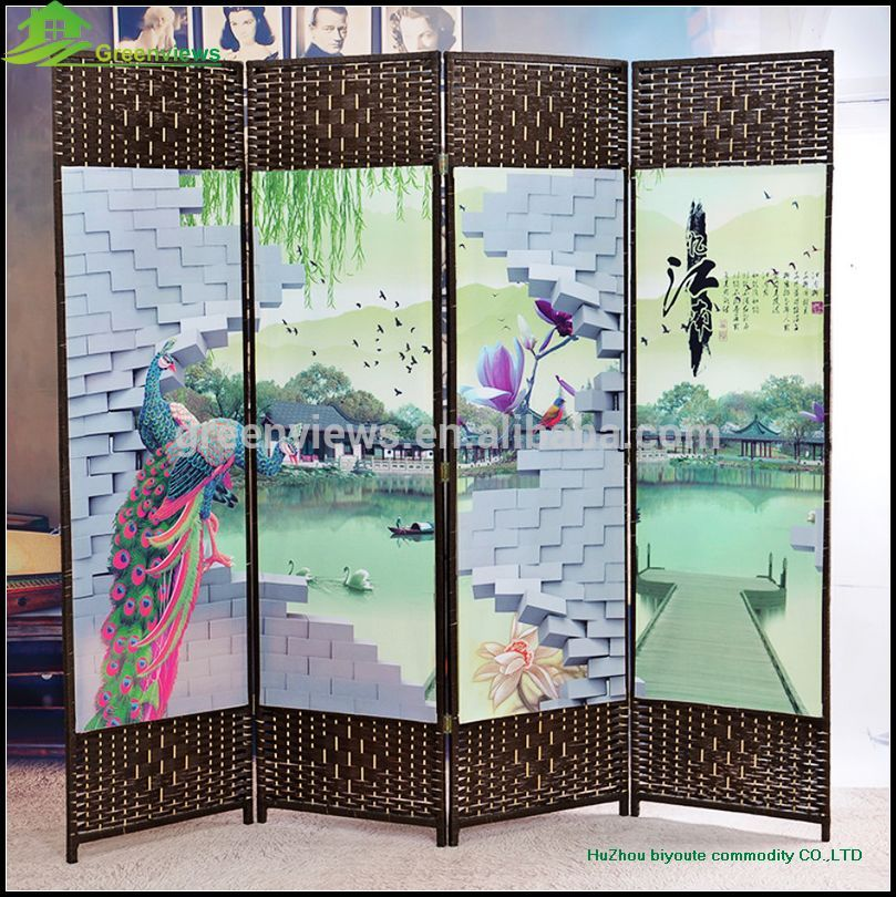 hanging canvas room divider photo - 6