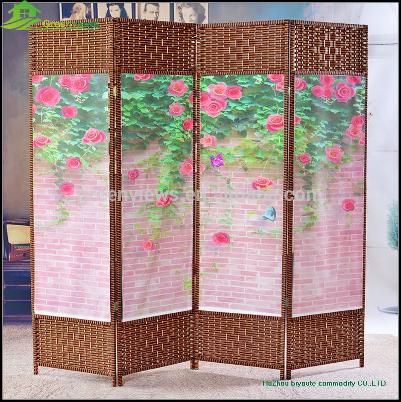 hanging canvas room divider photo - 7