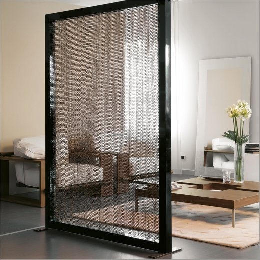 hanging chain room divider photo - 1