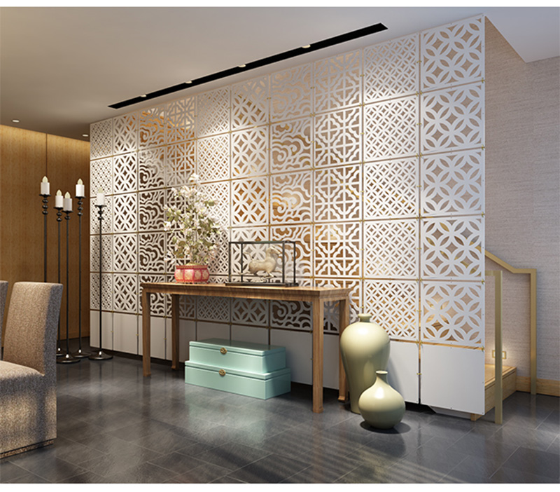 hanging chain room divider photo - 10