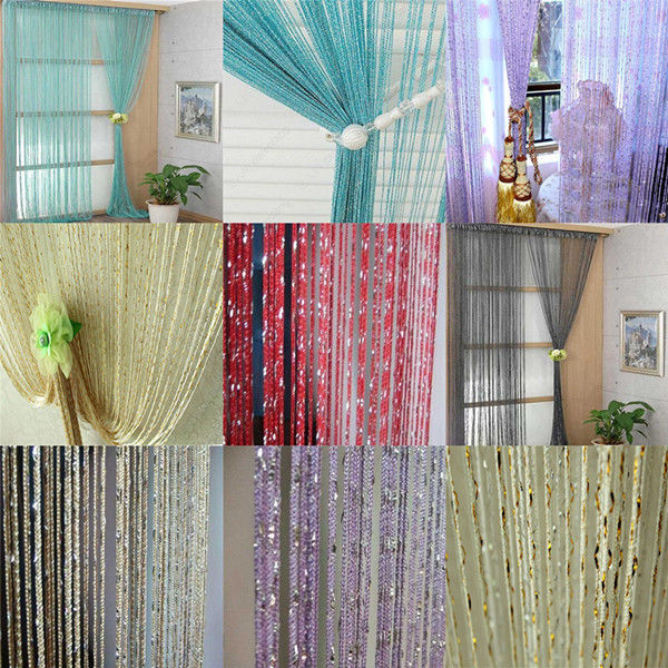 hanging chain room divider photo - 4