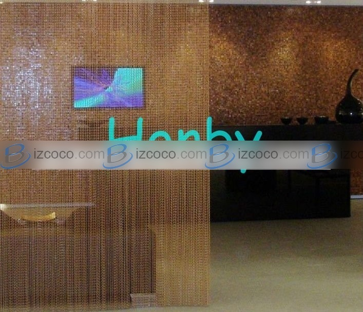 hanging chain room divider photo - 8