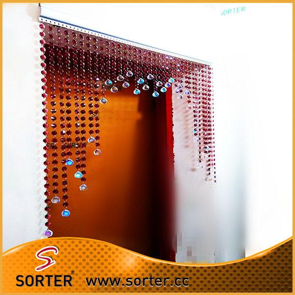 hanging crystal room divider photo - 8