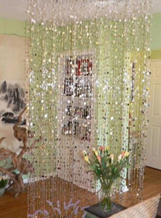 hanging crystal room divider photo - 9