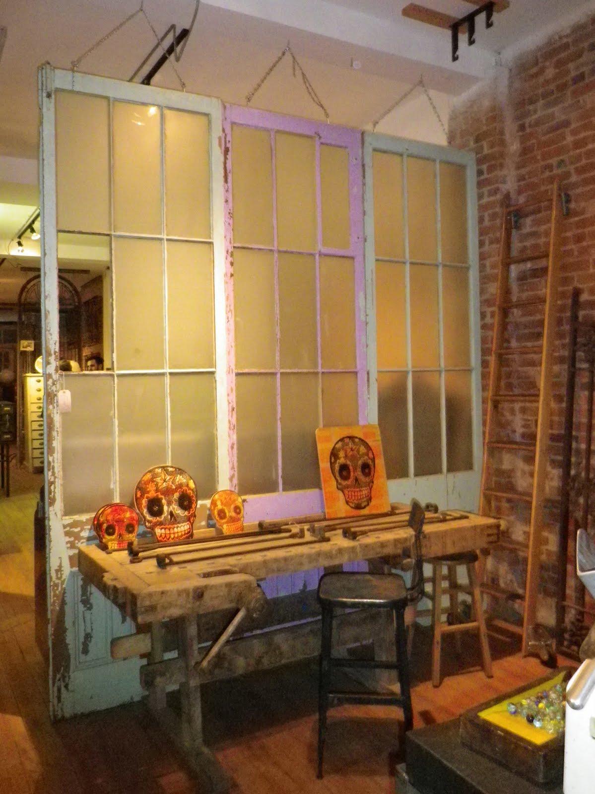 hanging door room divider photo - 1