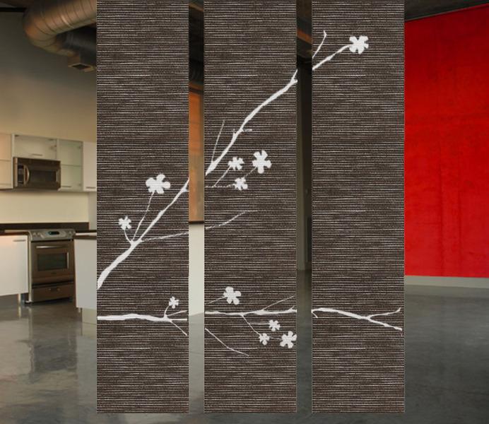 hanging door room divider photo - 2