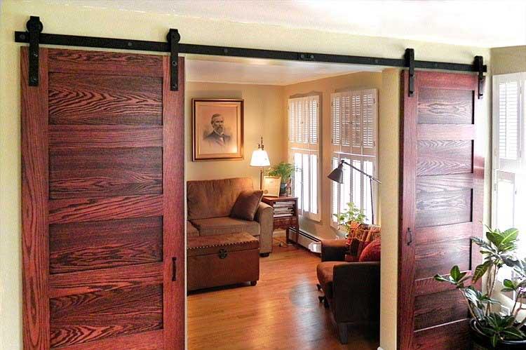 hanging door room divider photo - 6