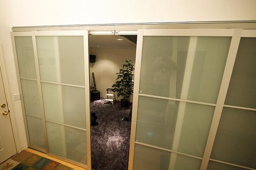 hanging door room divider photo - 7
